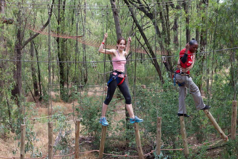 Outdoor Obstacle Courses Zip Lines Birthday Party Venue
