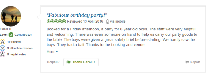 Review of Acrobranch Borthday Party